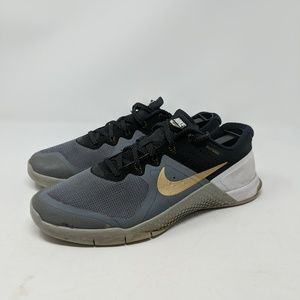 Nike Metcon 2 Training Shoe Size 8.5 Gray Black Go